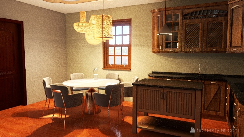 """Country"" Vacation home Interior Design Render"