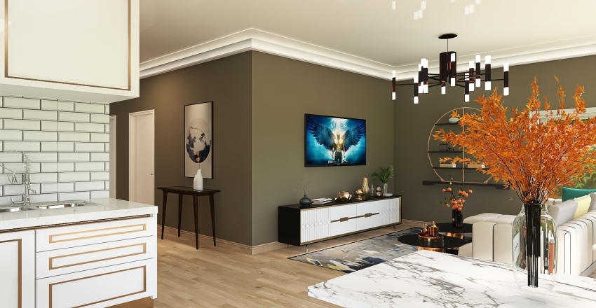 Casa Domnesti Interior Design Render
