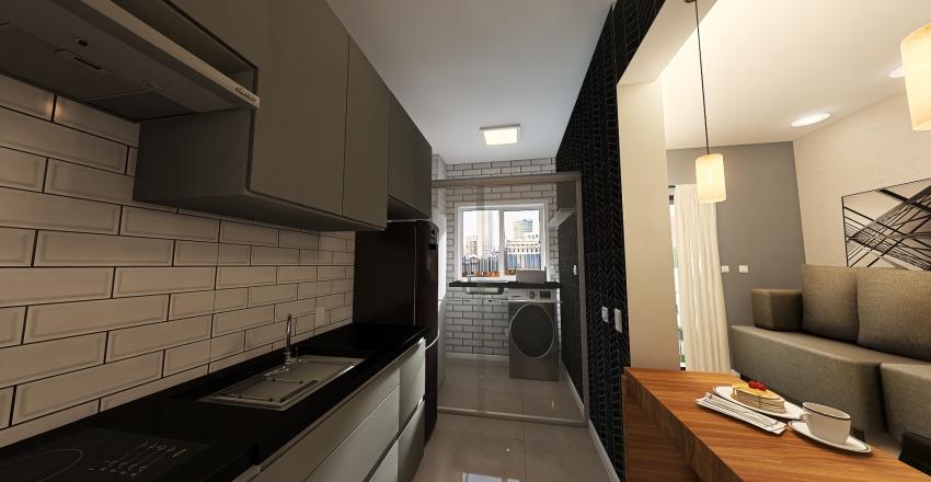 Apto São Paulo - RUBI Interior Design Render