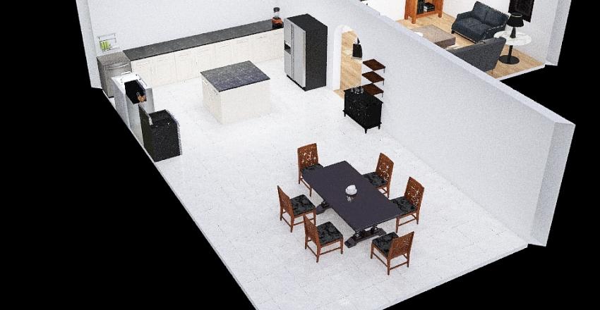 Kitchen BWood Interior Design Render