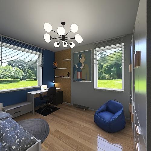 pokoj Tomka Interior Design Render