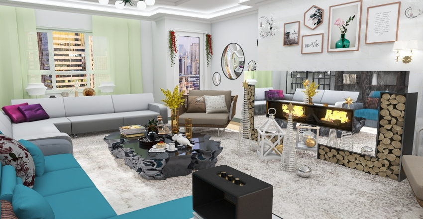living01 Interior Design Render