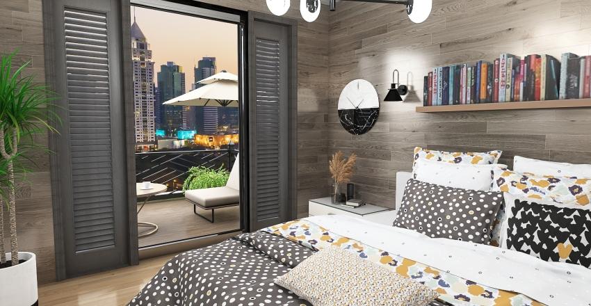 Apartment Living Interior Design Render