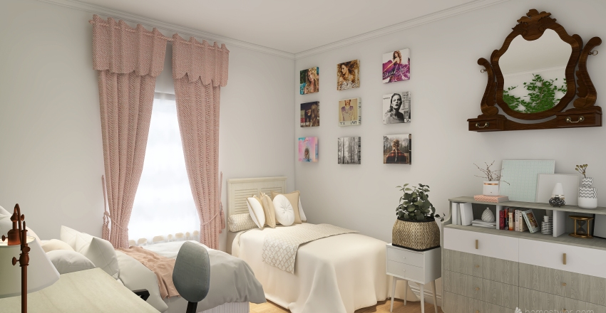 Jana's Bedroom Interior Design Render