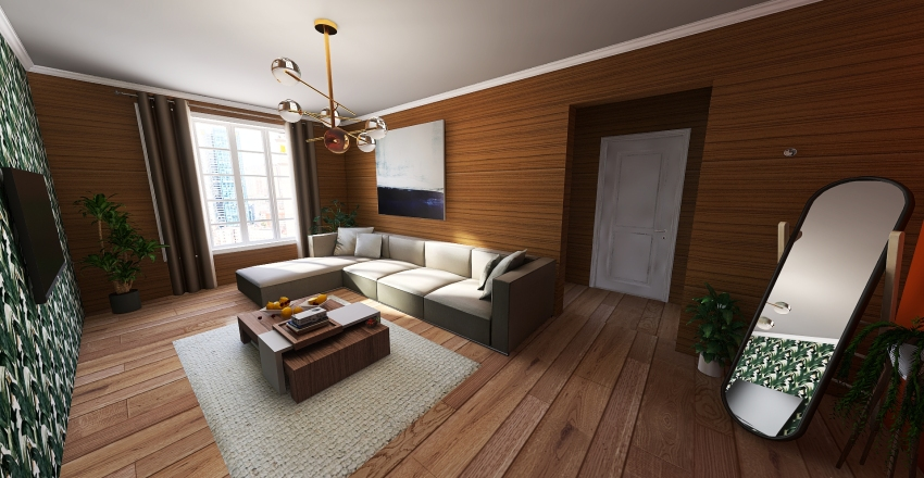 KÜÇÜK AİLE EVİ Interior Design Render