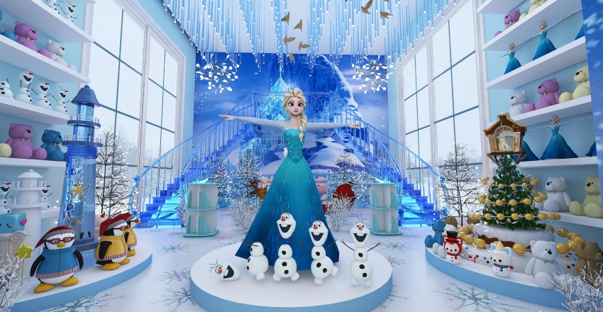 Frozen Theme Toy Shop Concept Design Interior Design Render