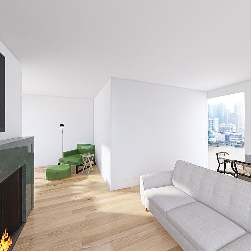 SF Apartment Interior Design Render
