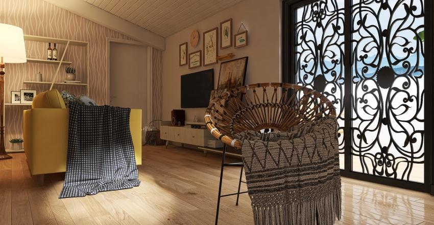 Buhardilla en Viena Interior Design Render