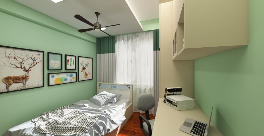 Small Project Render of Bedrooms and Toilet Interior Design Render