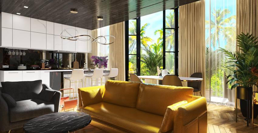 A Tropical Forest Apartment III Interior Design Render