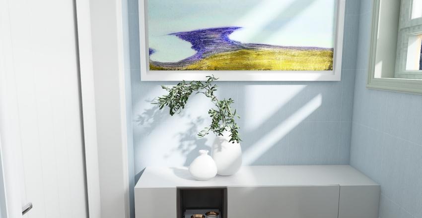 Pastel Shades Interior Design Render