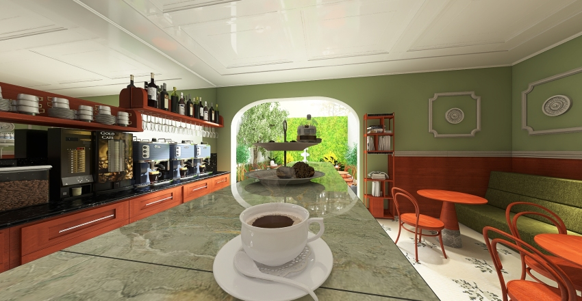 BistrôCoffee Interior Design Render