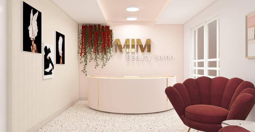 Beauty Salon Interior Design Render
