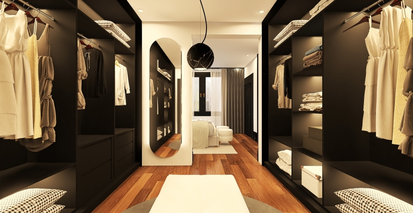 031| black, clean and modern Interior Design Render