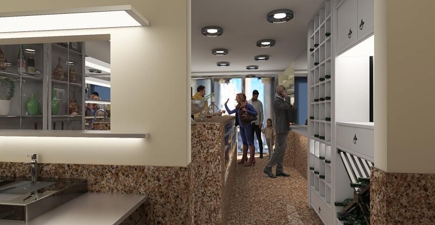 bar in venice Interior Design Render