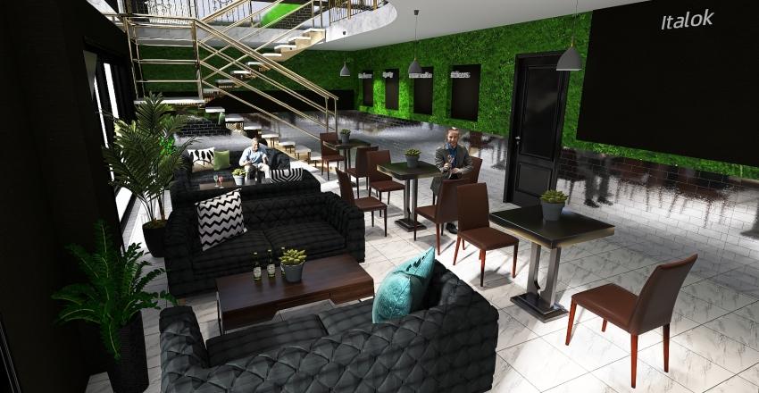 #BAR Interior Design Render