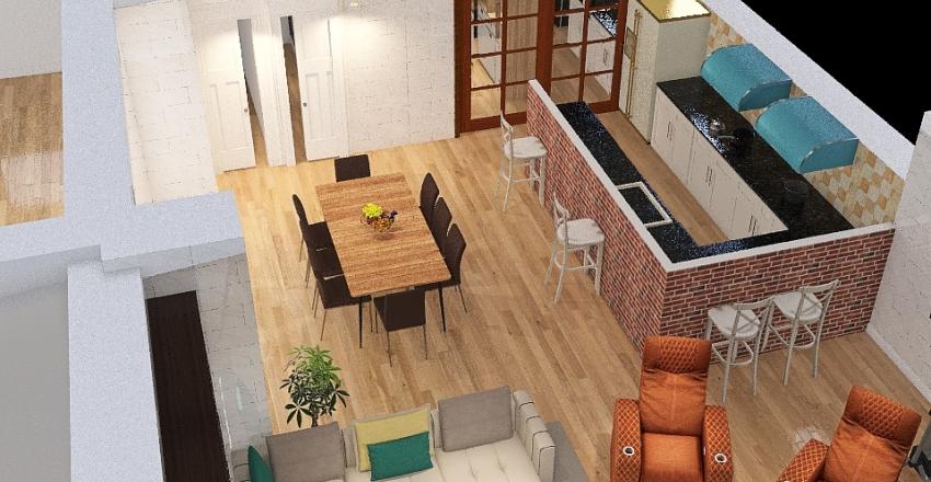 Rustico Bizzozero cucina spostata Interior Design Render