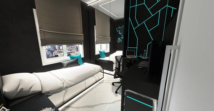 quarto juvenil Interior Design Render