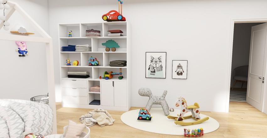 white home Interior Design Render