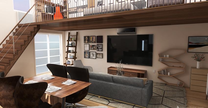 Ático con segundo piso Interior Design Render