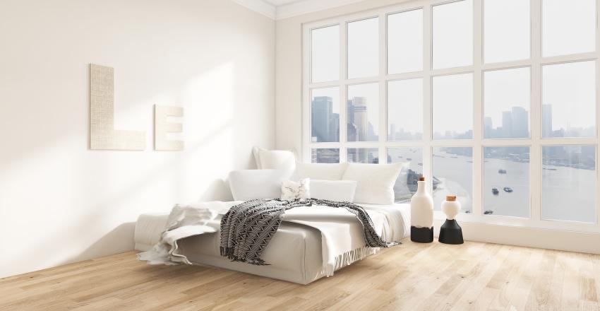light and airy Interior Design Render