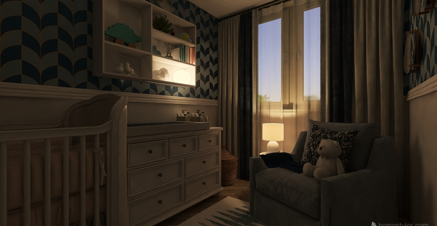 blue, blue, blue... Interior Design Render