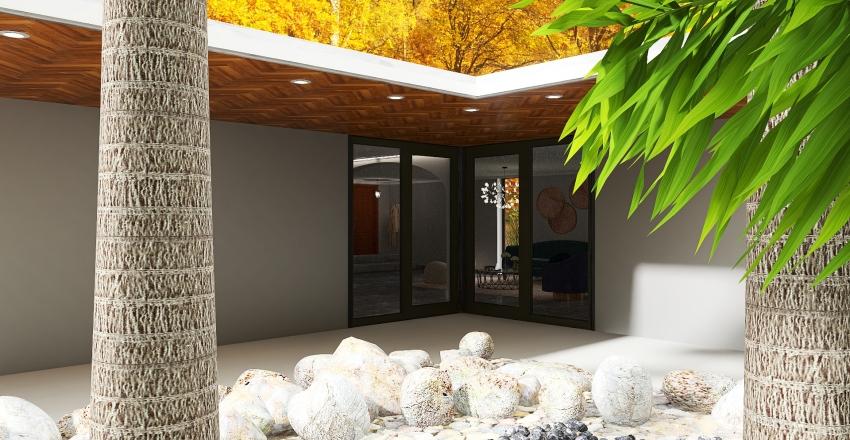 Forest House Interior Design Render