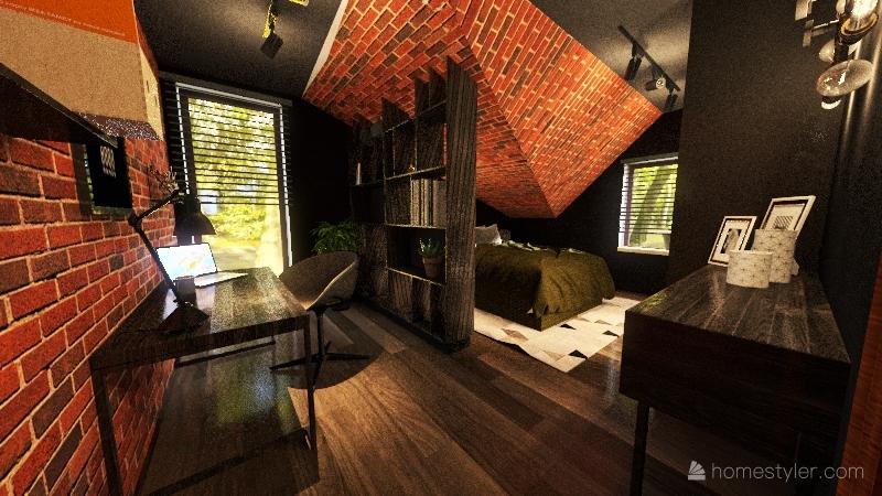 loft_bedroom Interior Design Render