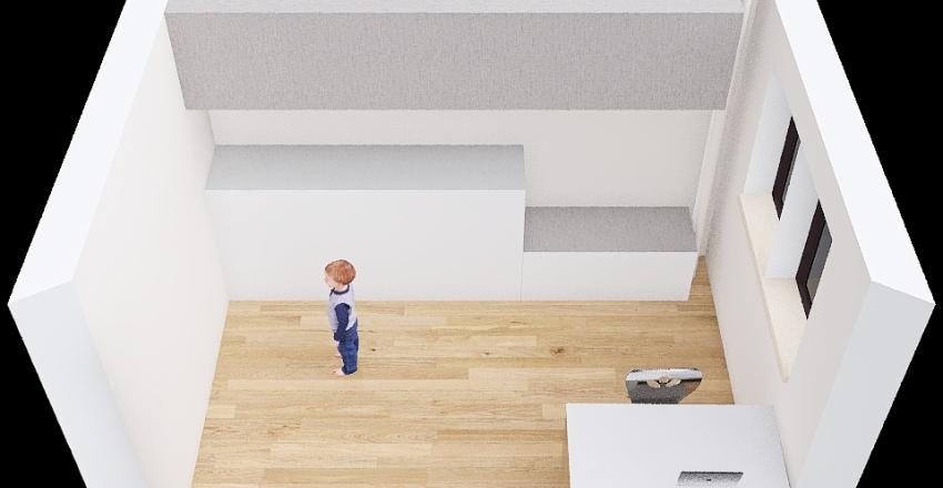 Pokoik Eryka Łóżko Denver Interior Design Render