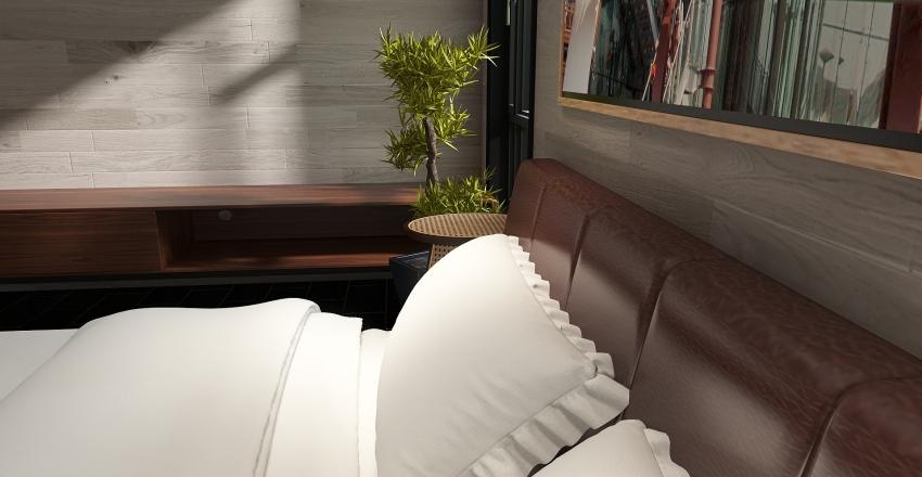 Peaceful Bedroom Interior Design Render