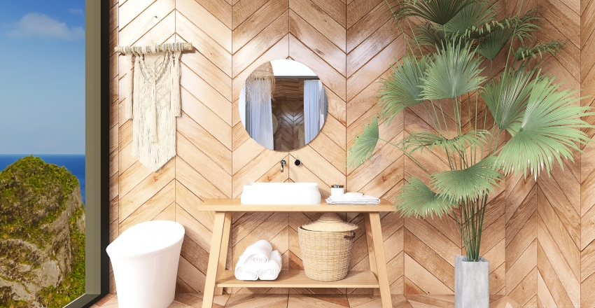 beachy Interior Design Render