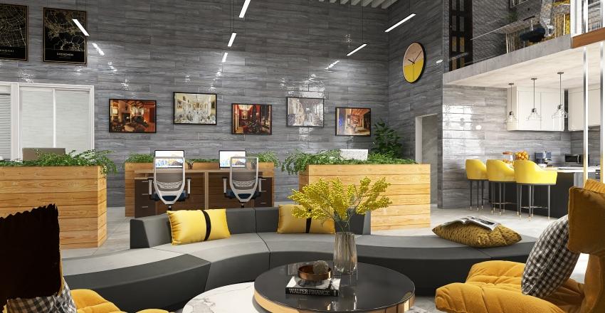 Pantone 2021 Color of the Year - Office Interior Interior Design Render