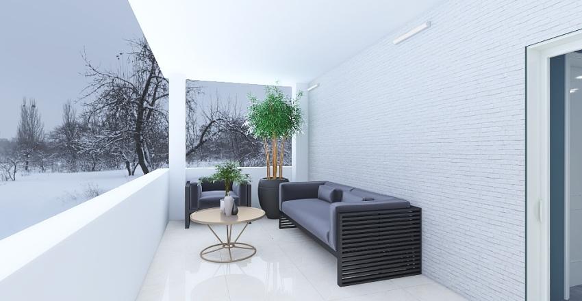 Christmas Home Interior Design Render