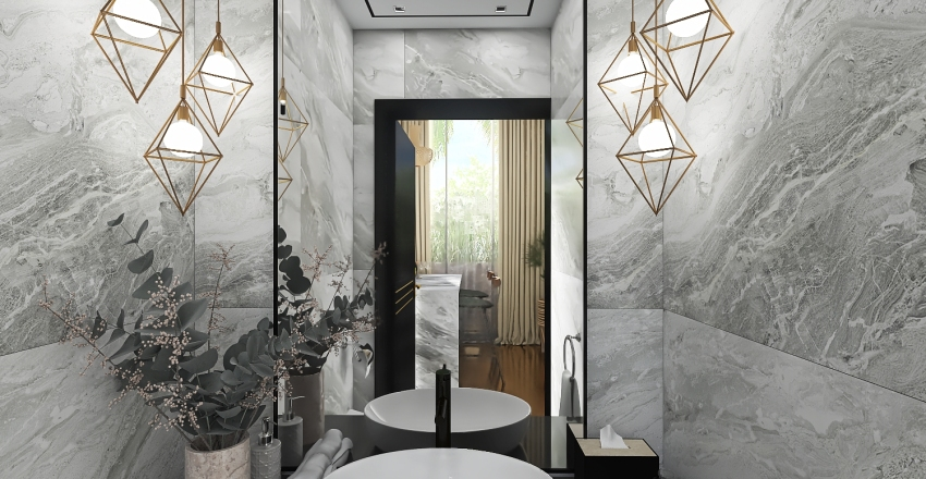 Oceanfront Villa I Interior Design Render