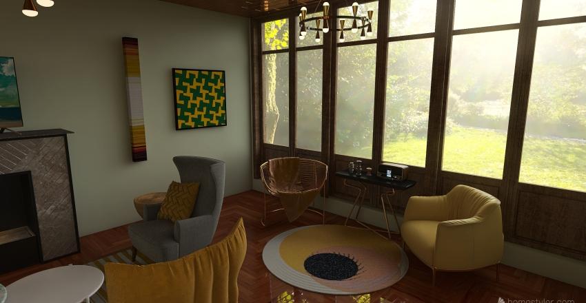 pantone2021 furniture Interior Design Render