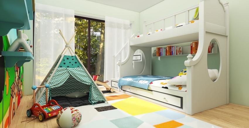 Quarto de menino Interior Design Render