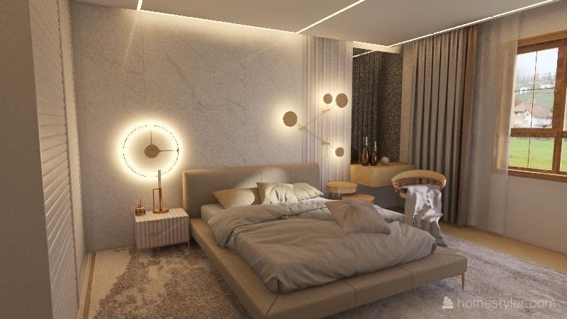 Scandi house 2nd floor-no skos Interior Design Render