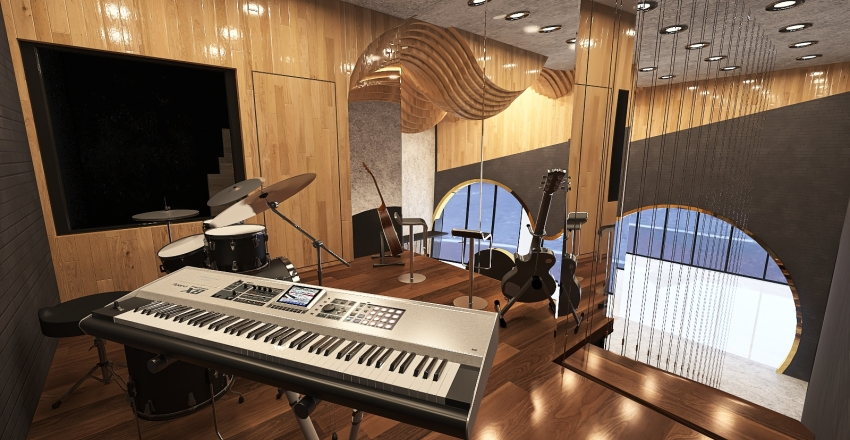 The Music Store Interior Design Render