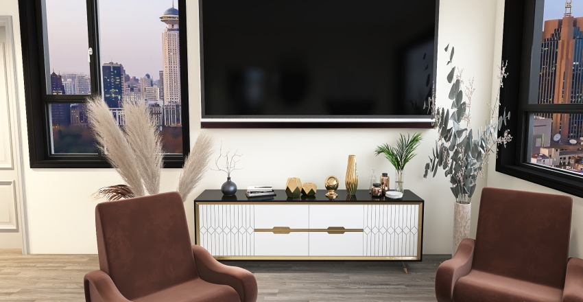 Neutral With Accents Interior Design Render