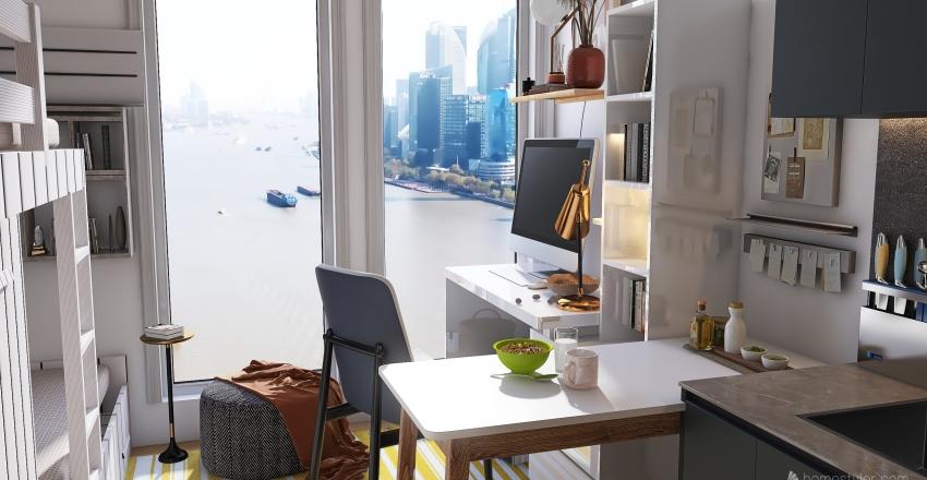 Student's home small Interior Design Render