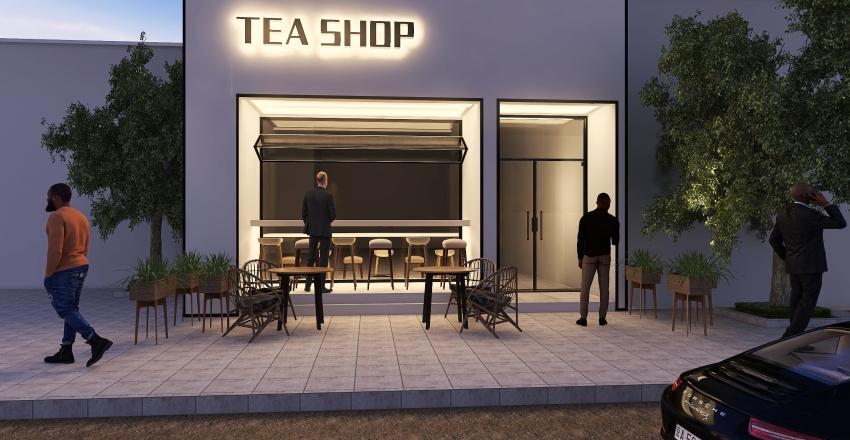 tea shop Interior Design Render