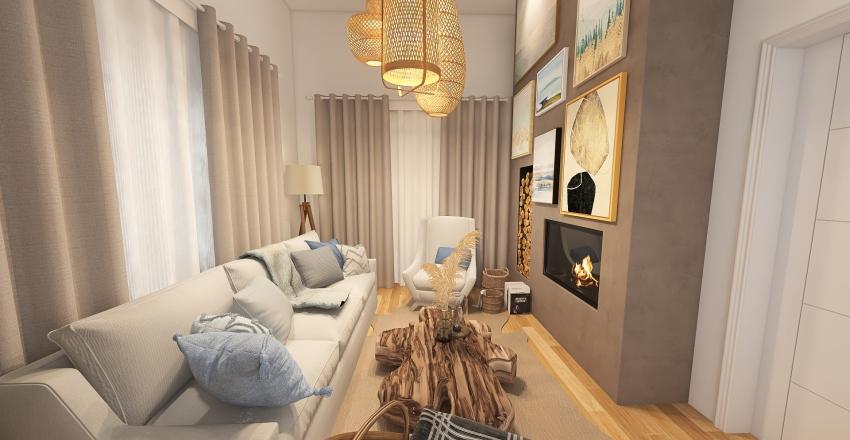 Dom w górach Interior Design Render