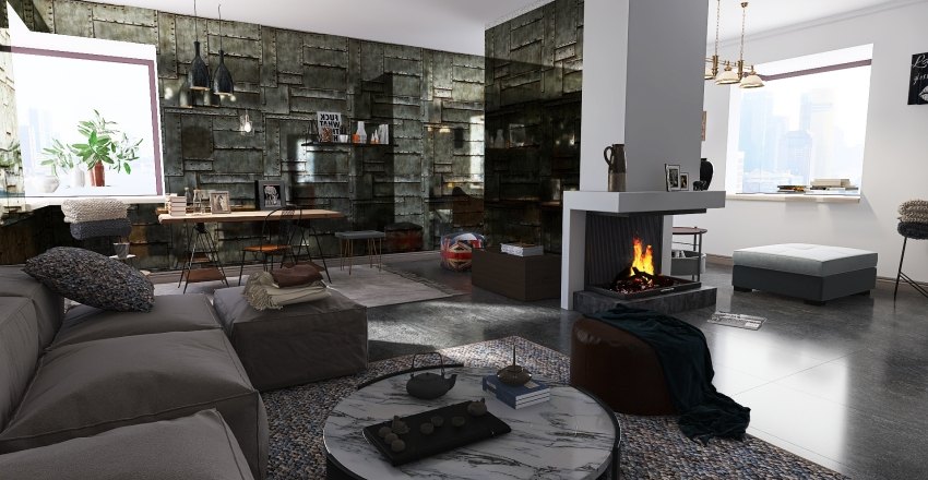 Industrial 001 Interior Design Render