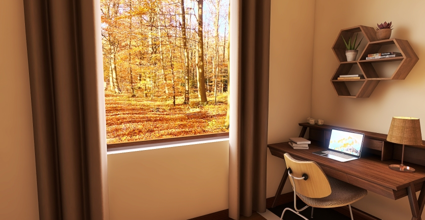 Autumn House Interior Design Render