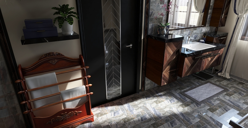 Renovated historic apartment Interior Design Render