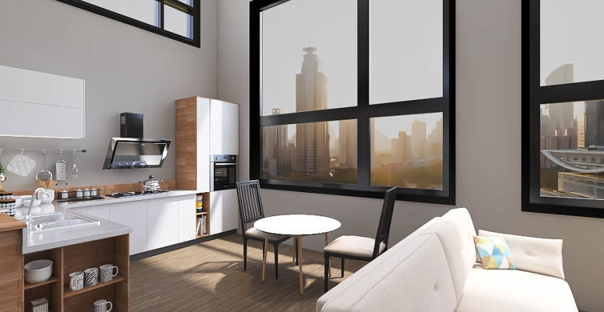City Loft Interior Design Render