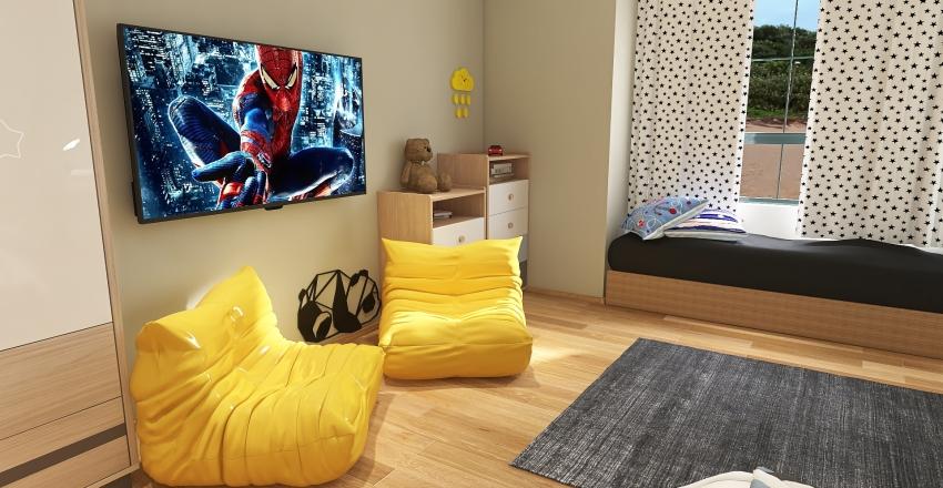 Apartment on the beach Interior Design Render