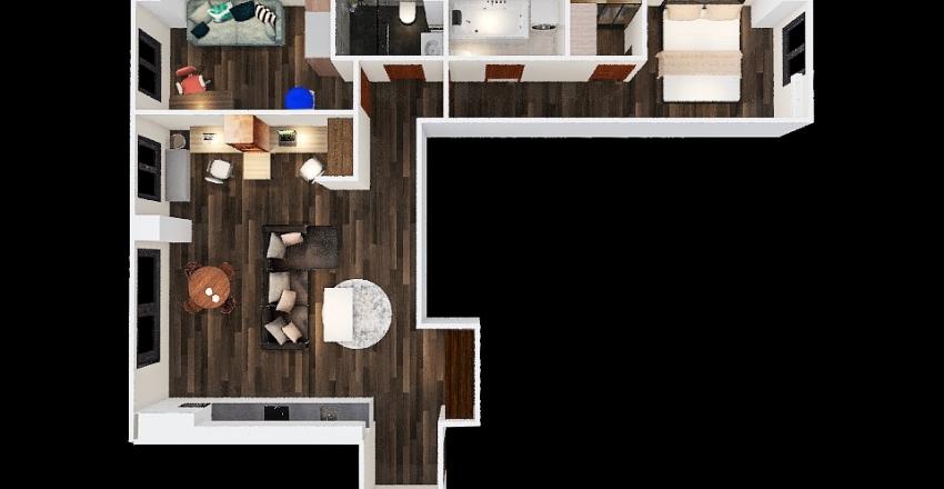 82 m2 Interior Design Render