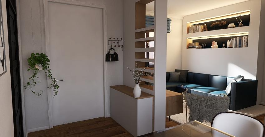 City Apartment Interior Design Render