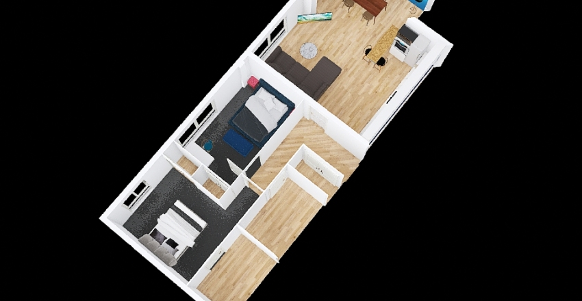 reverse couch UK appartment 90sqm Interior Design Render